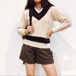 Vintage RL Wool Tennis Sweater